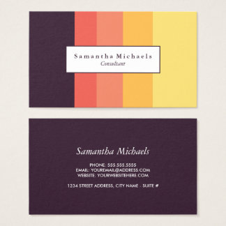 Sunset Color Block Business Cards