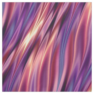 Sunset coloured wavy stripes fabric