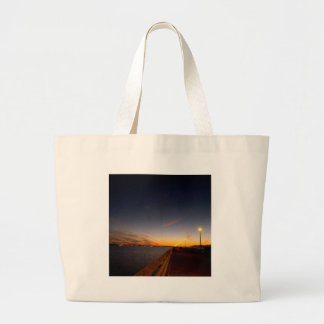 Sunset Cool Midnight City Bay Tote Bag