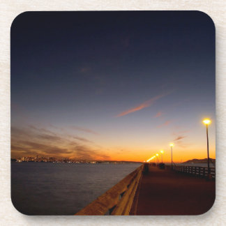 Sunset Cool Midnight City Bay Drink Coasters