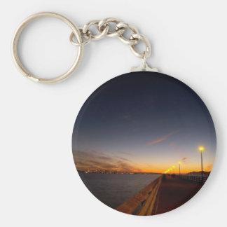 Sunset Cool Midnight City Bay Keychains