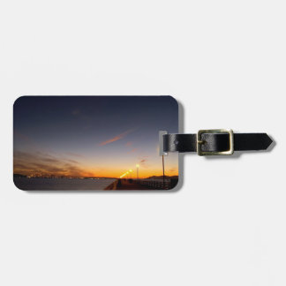 Sunset Cool Midnight City Bay Travel Bag Tag