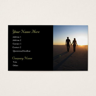 Sunset Couple Business Cards