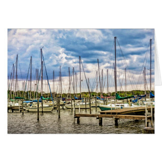Sunset Cove Marina Greeting Card