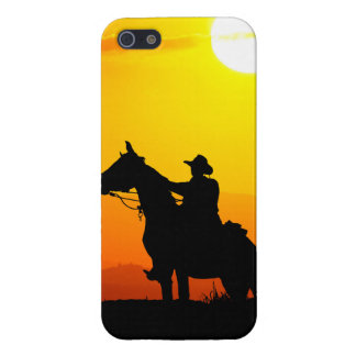 Sunset cowboy-Cowboy-sunshine-western-country Case For The iPhone 5