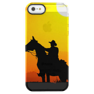 Sunset cowboy-Cowboy-sunshine-western-country Clear iPhone SE/5/5s Case