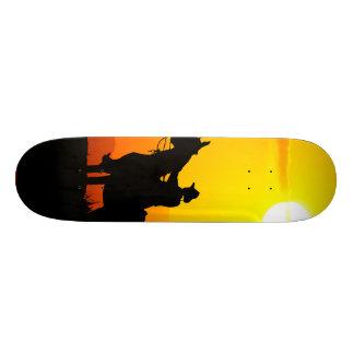 Sunset cowboy-Cowboy-sunshine-western-country Custom Skate Board