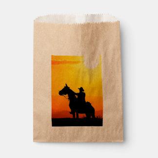 Sunset cowboy-Cowboy-sunshine-western-country Favour Bag