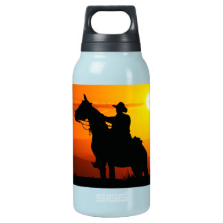 Sunset cowboy-Cowboy-sunshine-western-country Insulated Water Bottle