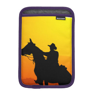 Sunset cowboy-Cowboy-sunshine-western-country iPad Mini Sleeve