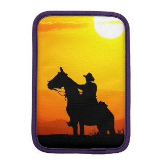 Sunset cowboy-Cowboy-sunshine-western-country iPad Mini Sleeve