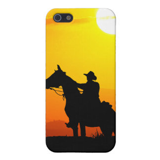 Sunset cowboy-Cowboy-sunshine-western-country iPhone 5/5S Cover