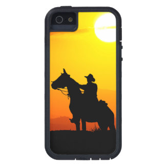 Sunset cowboy-Cowboy-sunshine-western-country iPhone 5 Case