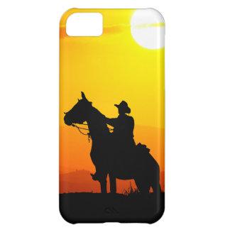 Sunset cowboy-Cowboy-sunshine-western-country iPhone 5C Case