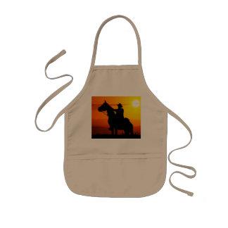 Sunset cowboy-Cowboy-sunshine-western-country Kids Apron