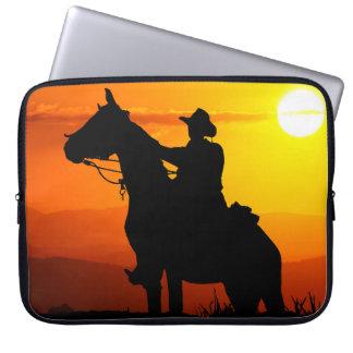 Sunset cowboy-Cowboy-sunshine-western-country Laptop Sleeve