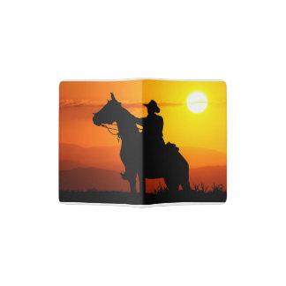 Sunset cowboy-Cowboy-sunshine-western-country Passport Holder