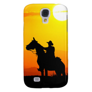 Sunset cowboy-Cowboy-sunshine-western-country Samsung Galaxy S4 Covers