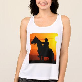 Sunset cowboy-Cowboy-sunshine-western-country Singlet