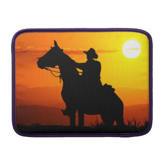 Sunset cowboy-Cowboy-sunshine-western-country Sleeve For MacBook Air