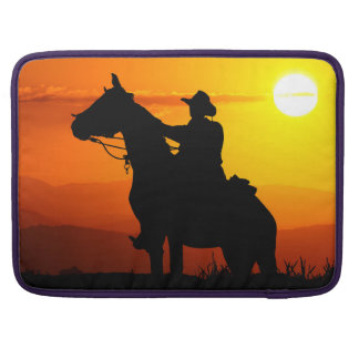 Sunset cowboy-Cowboy-sunshine-western-country Sleeve For MacBook Pro