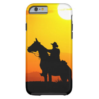 Sunset cowboy-Cowboy-sunshine-western-country Tough iPhone 6 Case