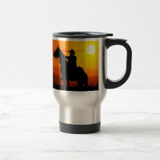 Sunset cowboy-Cowboy-sunshine-western-country Travel Mug