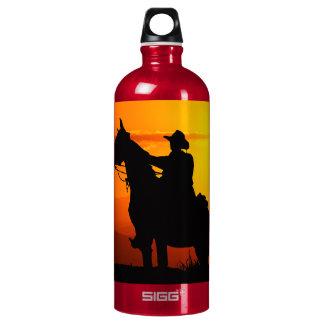 Sunset cowboy-Cowboy-sunshine-western-country Water Bottle