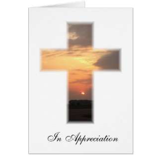Sunset cross Thank you Note Card