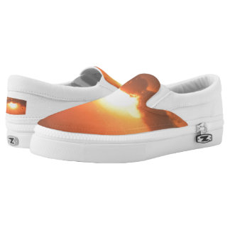 Sunset Custom Zipz Slip On Shoes,  Men & Women Printed Shoes
