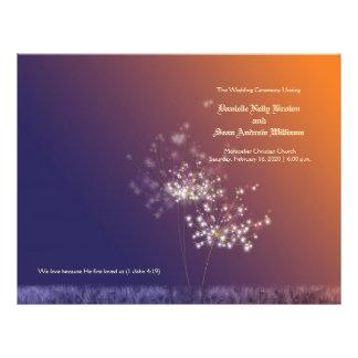 Sunset Dandelions Wedding Program 21.5 Cm X 28 Cm Flyer