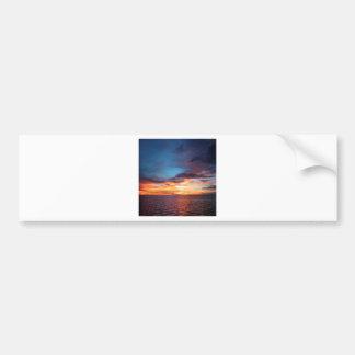 Sunset Dark Reflection Bumper Sticker