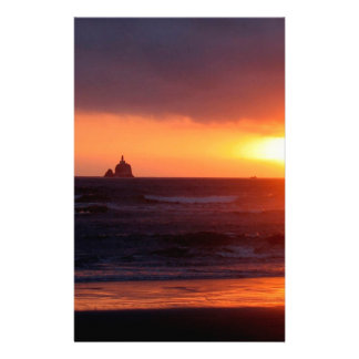 Sunset Day At Beach Stationery Design