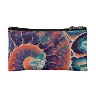 sunset daze nautilus cosmetic bag