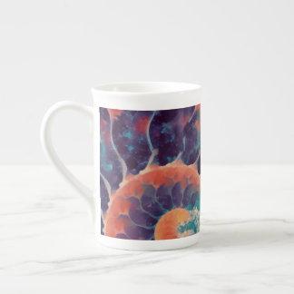 sunset daze nautilus tea cup