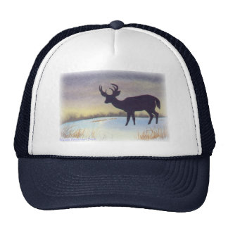 Sunset Deer Painting Cap