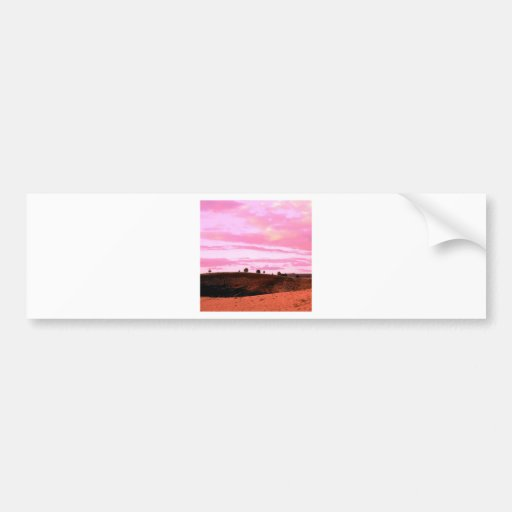 Sunset Diamond Craters Natural Gon Bumper Stickers