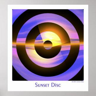 Sunset Disc Poster