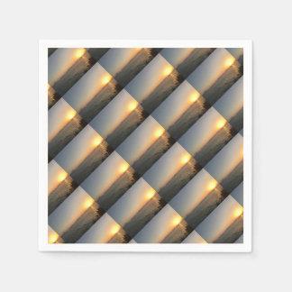 sunset disposable napkins