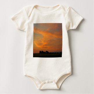 Sunset Distant Dusk Baby Bodysuit
