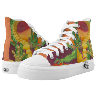 Sunset Dragon High Tops