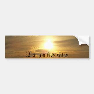 Sunset Dream_ Car Bumper Sticker