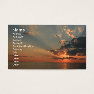 Sunset Dreams Business Card