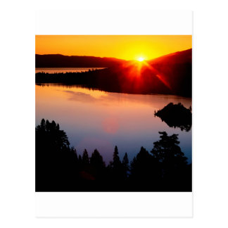 Sunset Emerald Bay Lake Tahoe Postcard