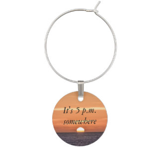 Sunset End of the Day Collection Set of 4 Wine Charm