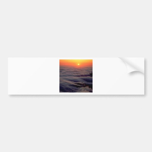 Sunset Ethereal Ocean Bumper Stickers