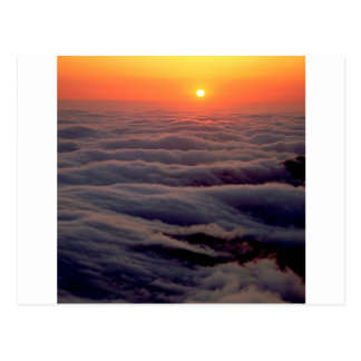 Sunset Ethereal Ocean Postcard