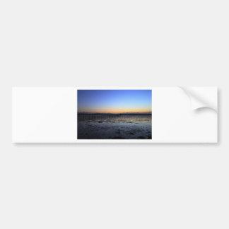 Sunset Evening Hill Bumper Sticker