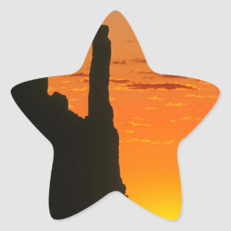 Sunset Evening Monument Navajo Star Sticker