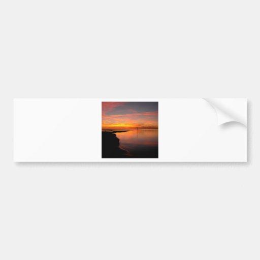 Sunset Eventually Dark Bumper Stickers